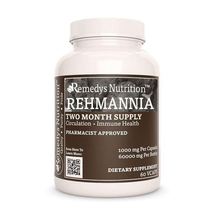 Rehmannia Root Capsules Supplement Remedy's Nutrition
