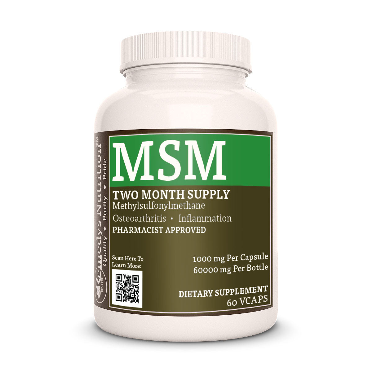 Remedy's Nutrition® MSM Capsules