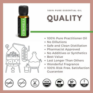 Citronella Essential Oil 3 Dram / 10 mL