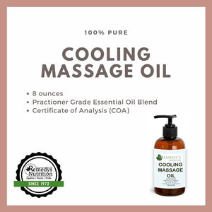 Cooling Massage Oil 8 oz