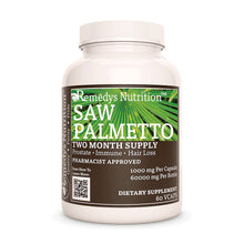 Load image into Gallery viewer, Saw Palmetto Supplement Remedy's Nutrition