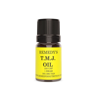 TMJ OIL 1.5 DRAM Personal Care Remedy's Nutrition
