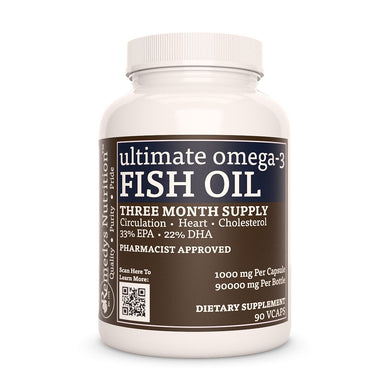 Ultimate Fish Oil (Check Supplement Facts Box for a List of Organic Ingredients) Supplement Remedy's Nutrition