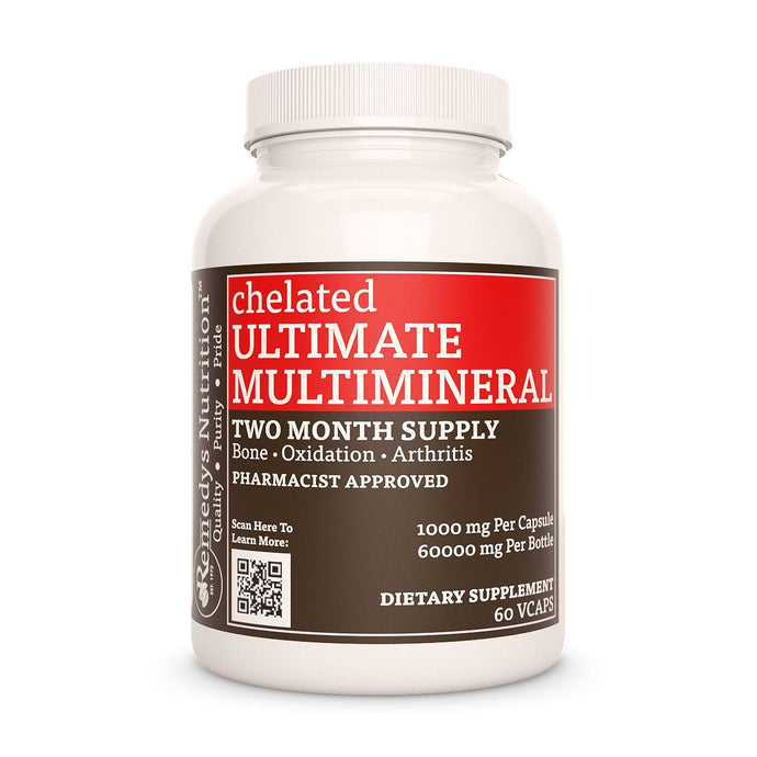 Ultimate Multi Mineral (Check Supplement Facts Box for a List of Organic Ingredients) Supplement Remedy's Nutrition