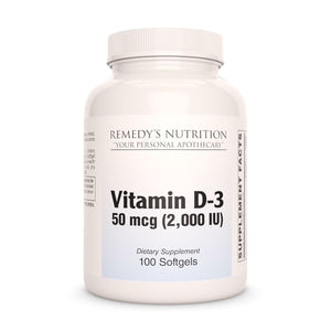 Vitamin D-3 Supplement Remedy's Nutrition
