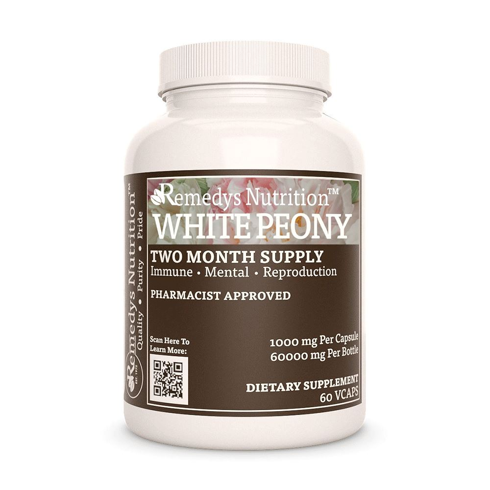 White Peony Supplement Remedys Nutrition