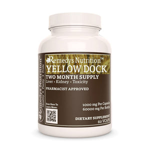 Yellow Dock Root Supplement Remedys Nutrition