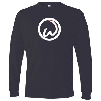 Wahlburgers Logo Long Sleeve Navy Tee