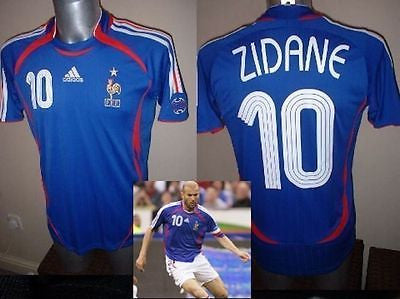 7cfb764d09f France Adidas Adult Large Zidane Football Soccer Shirt Jersey 06 Vinta –  classic-kits