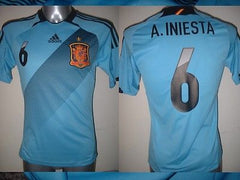 31f5e04ad15 Spain Espana INIESTA Shirt Jersey Football Soccer Adidas Adult Small Real  Madrid