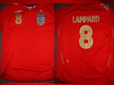 England LAMPARD Shirt M Boys Girl Youth Umbro Football Soccer Jersey C –  classic-kits 153251197