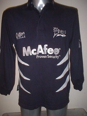 e3a05daab96 Sale Sharks Shirt Jersey Adult Small Rugby Union Top Premiership Cotton  Traders