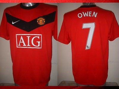 4e3a86895 Manchester United 7 OWEN Nike Jersey Shirt Adult Large Soccer Football –  classic-kits