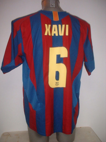 4bc2bf45e68 Barcelona XAVI Shirt Jersey Football Soccer Nike Adult Medium Spain Top  Espana