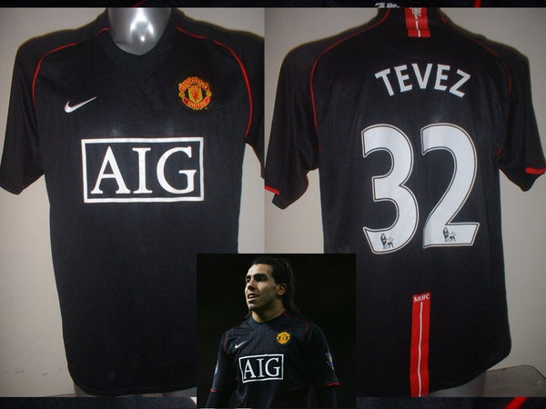 a9aac6cfc Manchester United TEVEZ Jersey Shirt Adult L Soccer Football Nike Top –  classic-kits