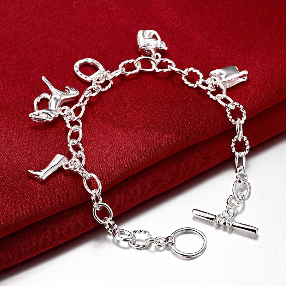 Horse Lover Silver Charm Bracelet - FREE SHIPPING! - One Cool Gift  - 1