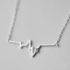 My Heartbeat Silver Necklace - One Cool Gift  - 1