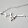 My Heartbeat Silver Necklace - One Cool Gift  - 3