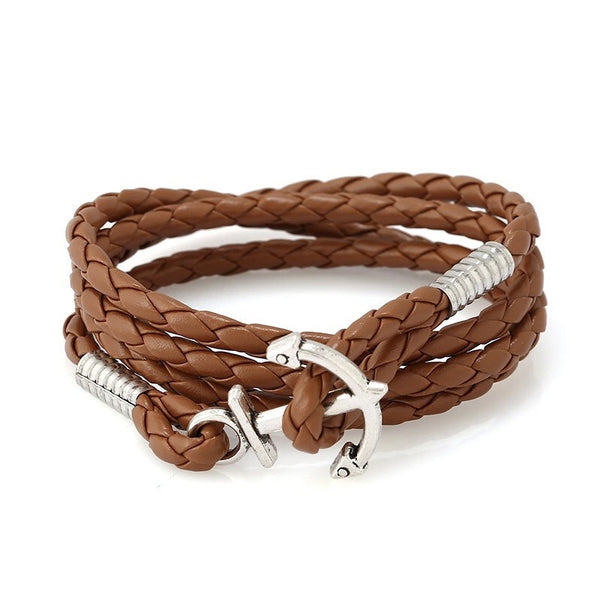 Sailor Weaved Bracelet With Anchor Hook - One Cool Gift  - 1