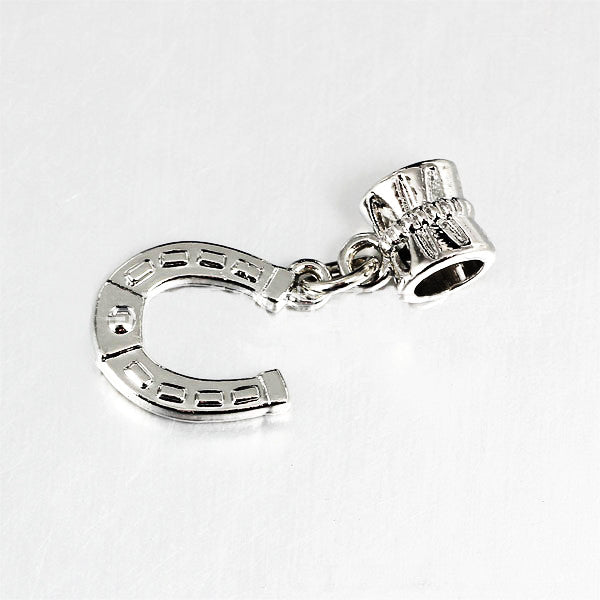 Horseshoe Silver Plated Charm - One Cool Gift  - 1