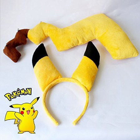 Pikachu Ears & Tail Cosplay Set - One Cool Gift