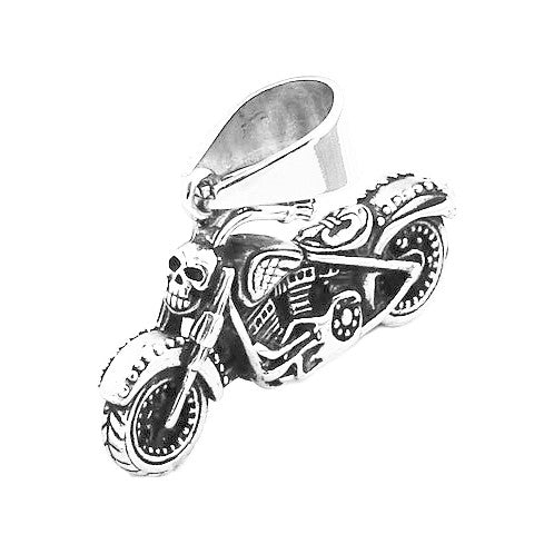 Mad Skull Motorbike Premium 316L Titanium Necklace - One Cool Gift  - 1