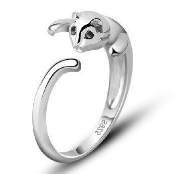 Super Cat Lover 925 Sterling Silver Crazy Cat Ring - One Cool Gift  - 1
