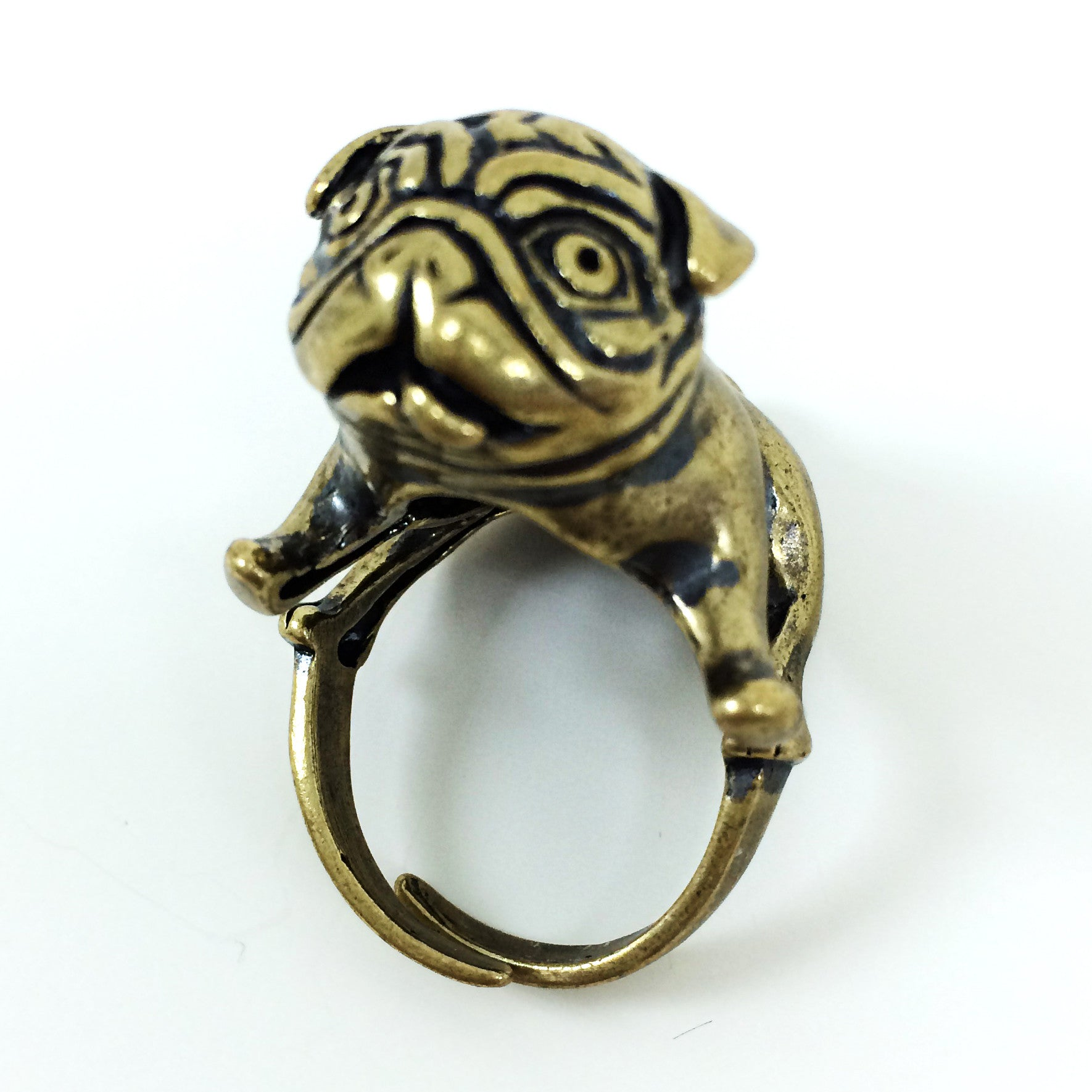 Limited Edition Super Duper Adjustable Pug Ring - One Cool Gift  - 1