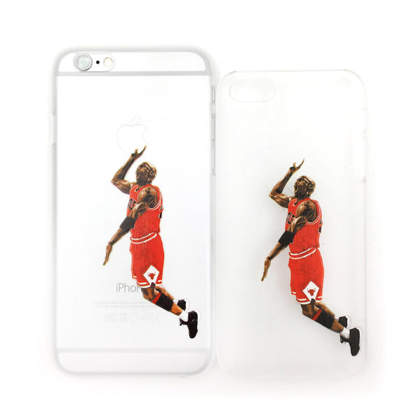 Michael Jordan's Slam Dunk Red Edition Transparent iPhone Case - One Cool Gift  - 1