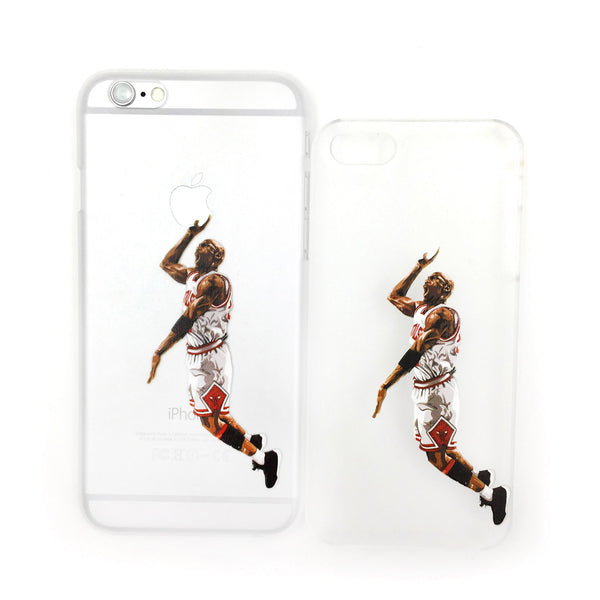 Michael Jordan's Slam Dunk White Edition Transparent iPhone Case - One Cool Gift  - 1