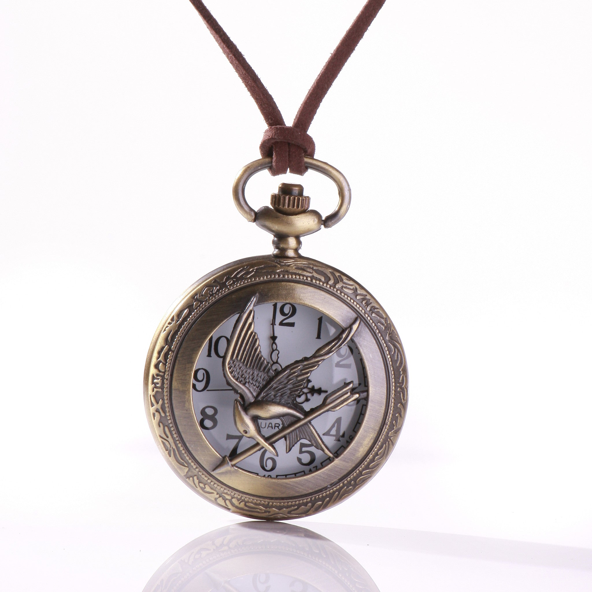 pocket pendant watch antique necklace key silver