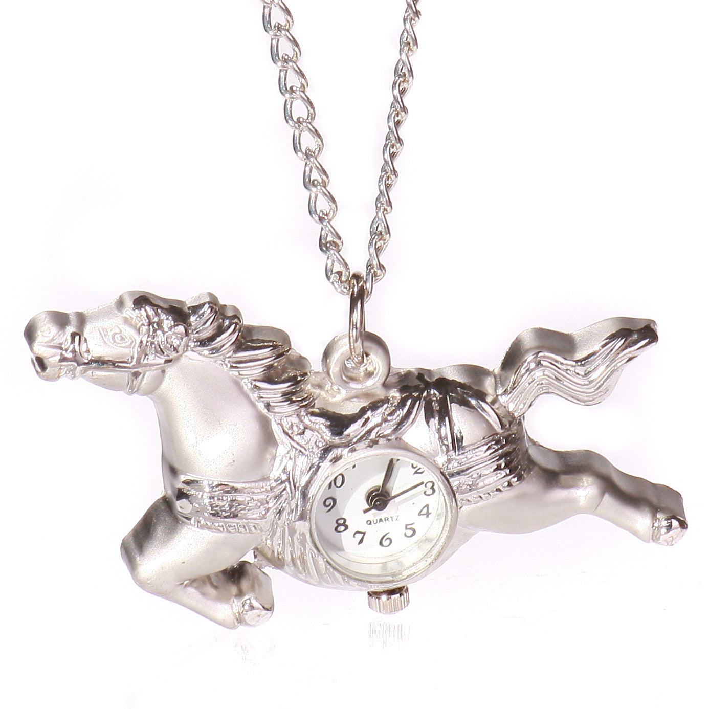 Special Silver Edition Time To Ride Pocket Watch Necklace - One Cool Gift  - 1