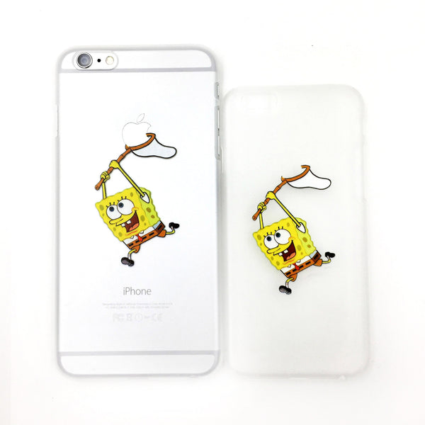 Catch The Apple Spongebob Transparent iPhone Case - One Cool Gift  - 1