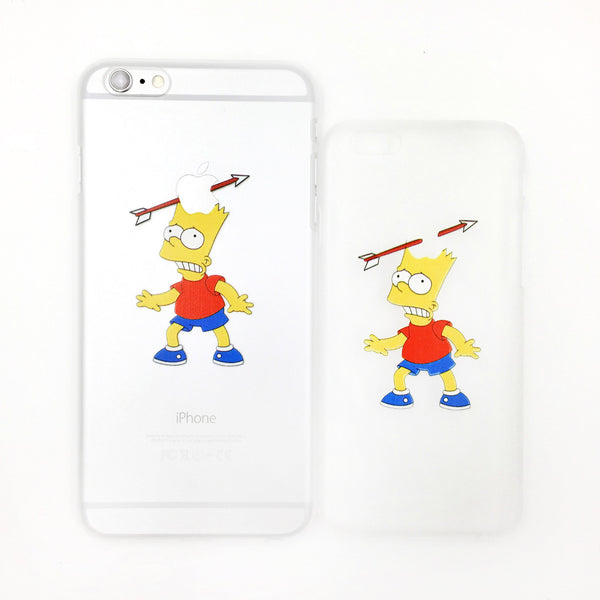 Bart Simpson Apple Shot Transparent iPhone Case - One Cool Gift  - 1