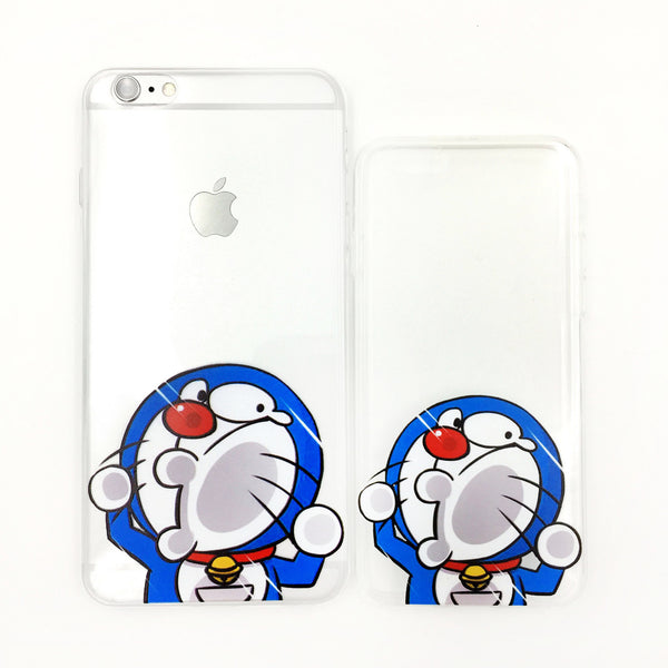 Funky Squished Doraemon Transparent Phone Case - One Cool Gift  - 1