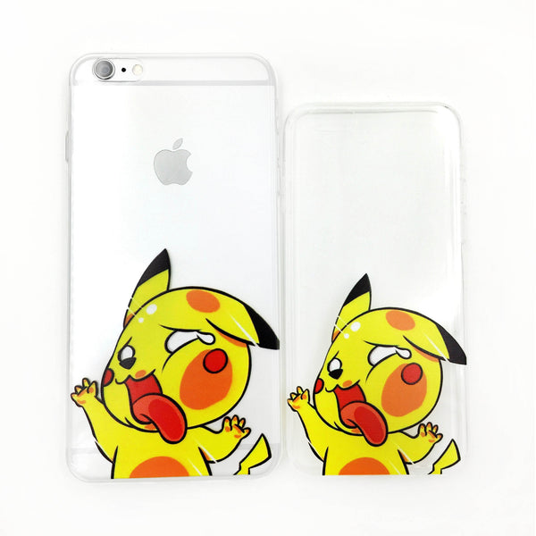 Funky Squished Pikachu Transparent Phone Case - One Cool Gift  - 1