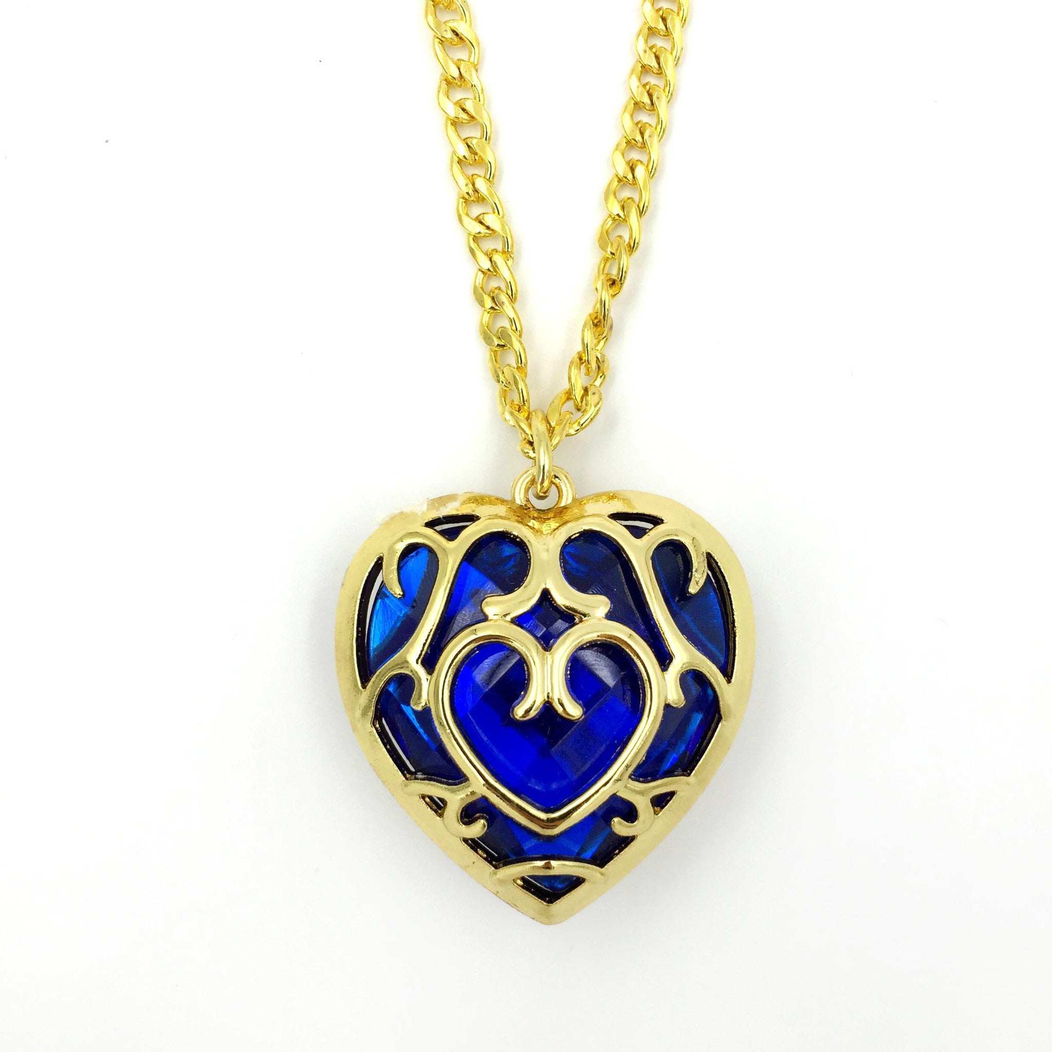 The Legend of Zelda Blue Heart Container Necklace - One Cool Gift  - 1
