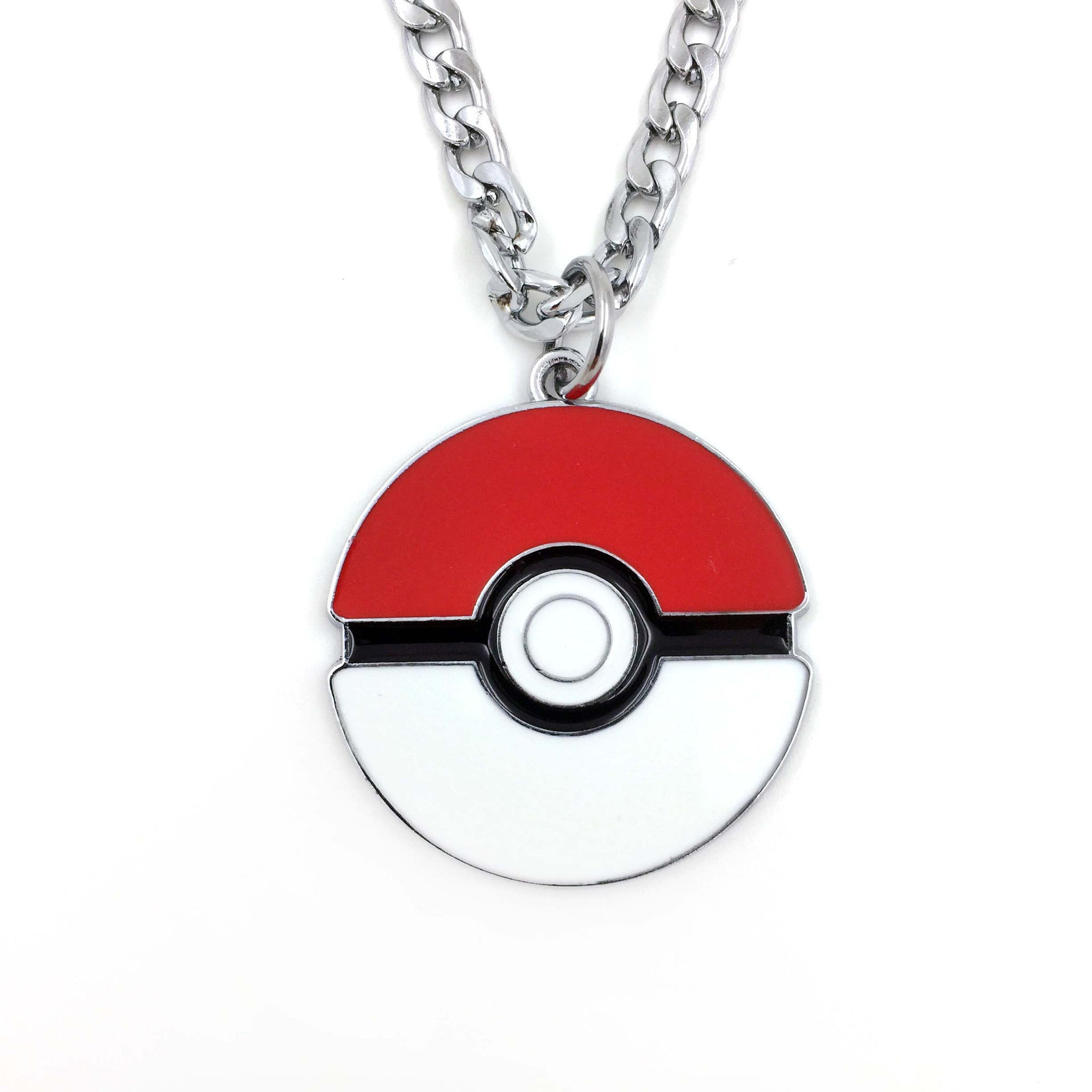 The Original Pokemon 2D Poke Ball Necklace - One Cool Gift  - 1