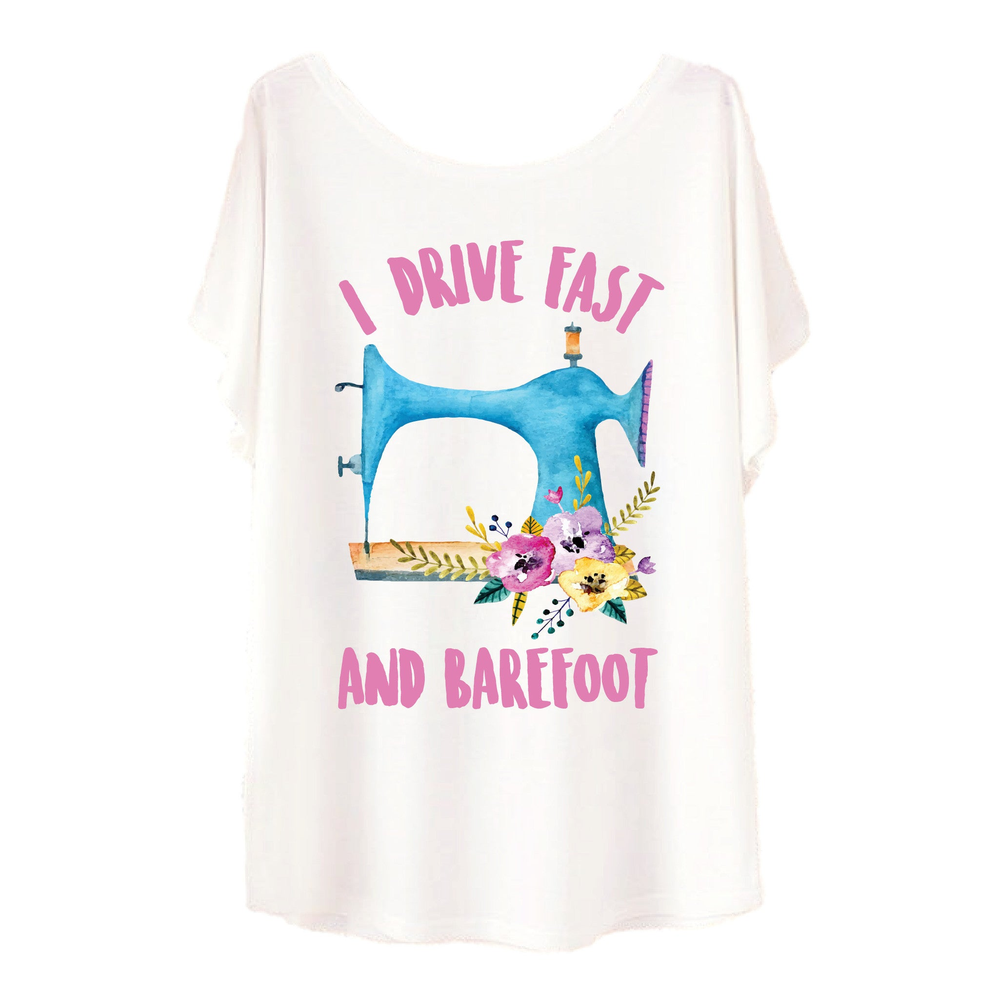 I Drive Fast & Barefoot Tee - One Cool Gift  - 1
