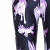Happy Unicorn Print Leggings - FREE SHIPPING - One Cool Gift  - 3