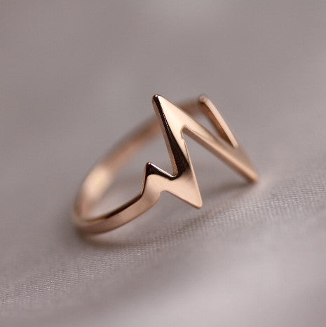 Heavy Heartbeat 14K Rose Gold Plated Pulse Ring - 3 Size Available - One Cool Gift  - 1