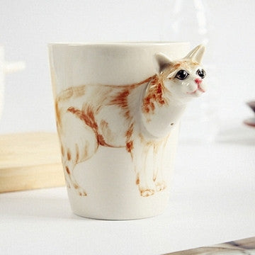 """Thinking About Cats Again"" Handmade Ceramic Mugs - One Cool Gift"