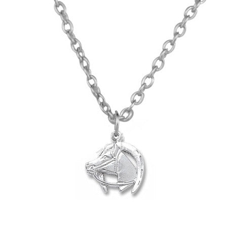 Keep Calm and Love Horse Silver Necklace - One Cool Gift  - 1