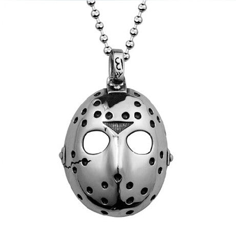 Friday The 13th Jason Mask Premium 316L Titanium Necklace - One Cool Gift  - 1