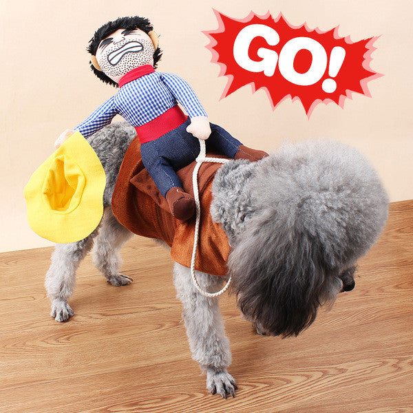 Funny Yee Haw Cowboy Pet Costume - One Cool Gift  - 1