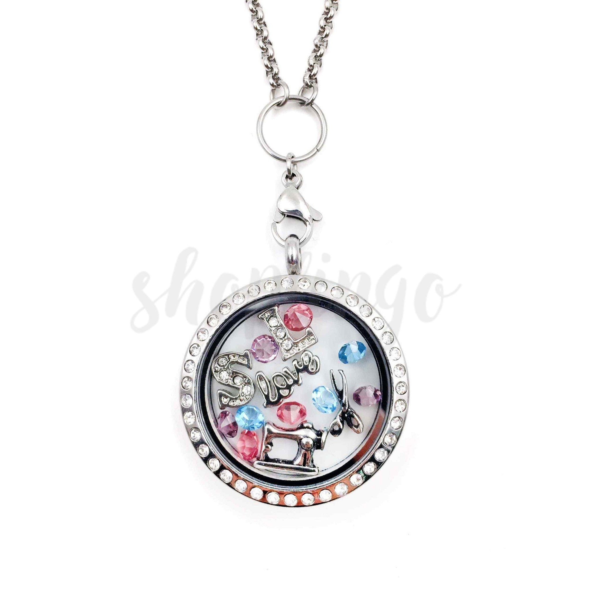Keep Calm & Sew On Locket - One Cool Gift  - 1