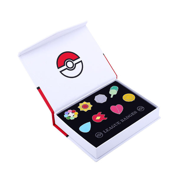 Pokemon Gym Badges Brooch Set - One Cool Gift  - 2