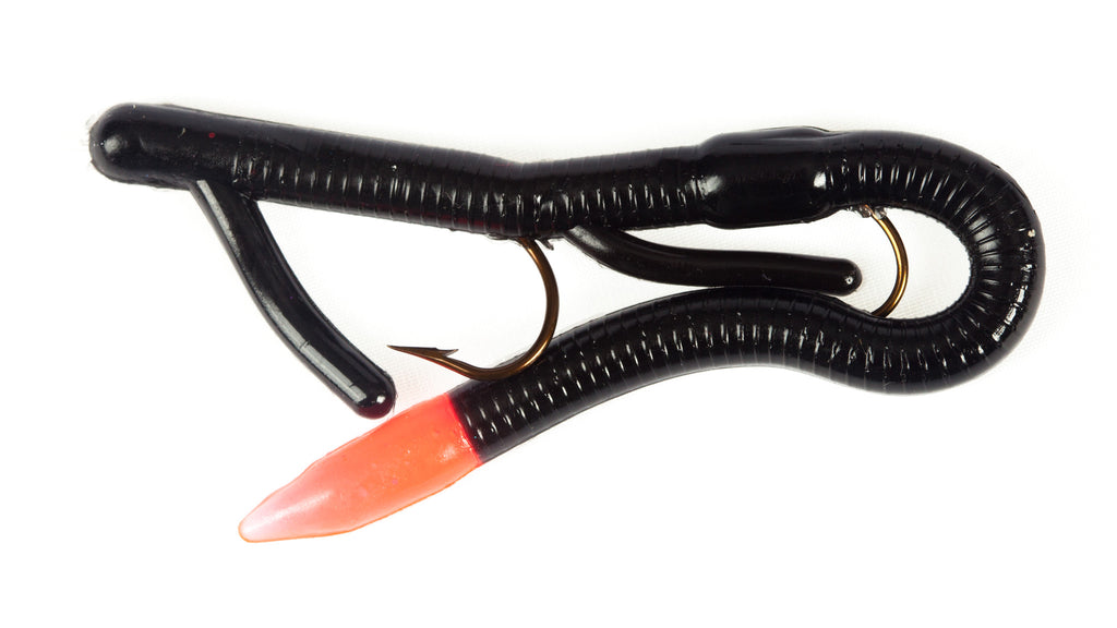 "6"" Pro Series Touchdown Worm - 10 Pack (Fire Tail)"