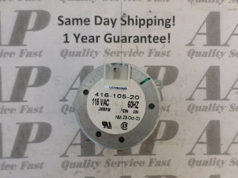 416-105-20 Invensys Timer Motor .35 RPM Clockwise 1 Gear 20 Teeth