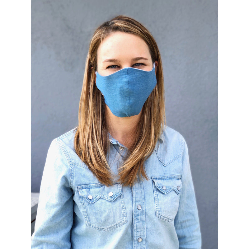 LOOK GOOD DO GOOD Chambray Mask - Adult